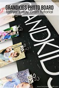 (craft tutorial) grandkids photo board for father's day ...