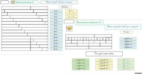les tapis de 16 d 233 compositions additives et multiplicatives r 233 glette cuisenaire exercices