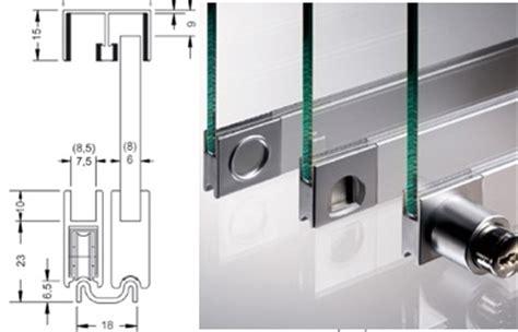 ensemble vitris supra 5m pour portes coulissantes de vitrine verre 6mm ref ensemble vitris