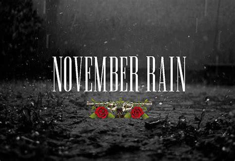 Song Lyric November Rain