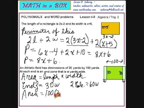 Writing Polynomials For Word Problems Youtube
