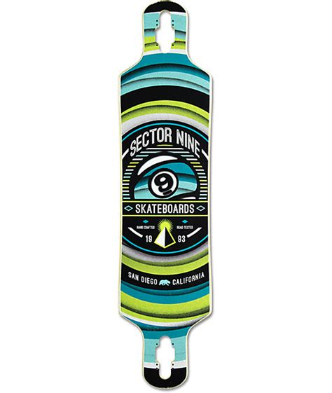 sector 9 meridian 40 quot drop through longboard deck at
