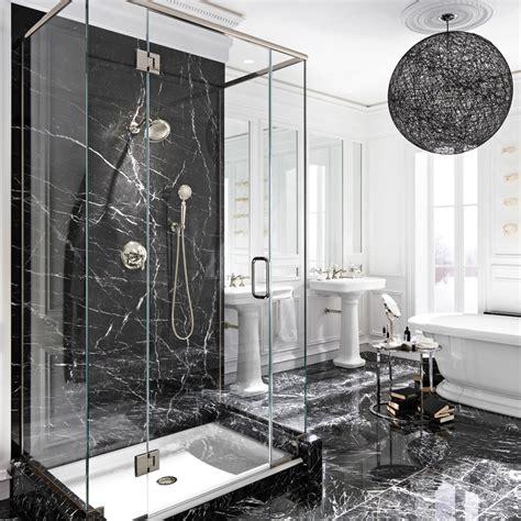 le luxe du marbre noir dans la salle de bain salle de bain inspirations d 233 coration et