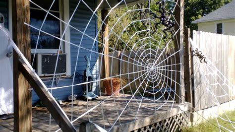 Amazing Spiderweb Decoration, (homemade) Halloween 19 Diy Dessert Recipes Truck Bed Tarp Tent Garden Benches Plans Scarf Into Dress Repair Tear In Leather Couch Face Exfoliator For Oily Skin Fun Easy Diys Summer Egg Mask Blackheads