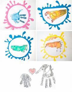 Malen Mit Kindern : malen mit kindern tierbilder aus handabdr cken handmade kultur ~ Markanthonyermac.com Haus und Dekorationen