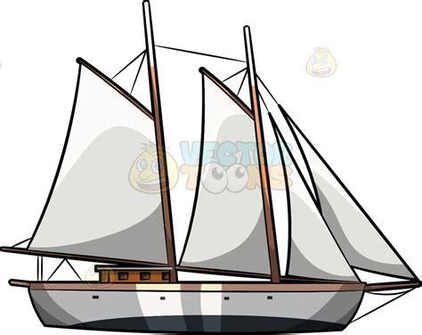 Sailboats Cartoon by A Sailboat Cartoon Clipart Vector Toons