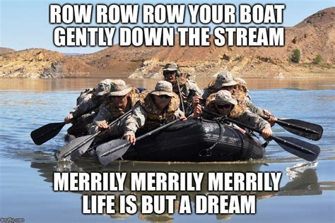 Row Your Boat Gently Down The Stream Meaning by Rowing Inflatable Boat Small Imgflip