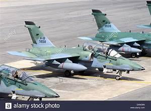 Brazilian Air Force A-1B (AMX) aircraft parked at Natal ...