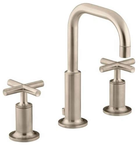 kohler k 14406 3 purist widespread bathroom faucet modern bathroom sink faucets by buildcom