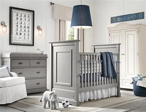 Boy Nursery Ideas Gray Blue Boys Nursery Design With