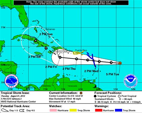 Hurricane Isaac Love Boat by Tropical Storm Isaac Forms In Atlantic Puerto Rico Under