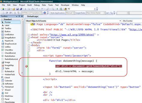 Vs 2008 Javascript Debugging