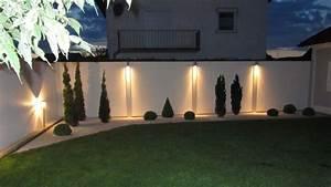 Terrasse Lampen Led : sichtschutz mit standardabdeckung und beleuchtung bei nacht garten pinterest sichtschutz ~ Markanthonyermac.com Haus und Dekorationen