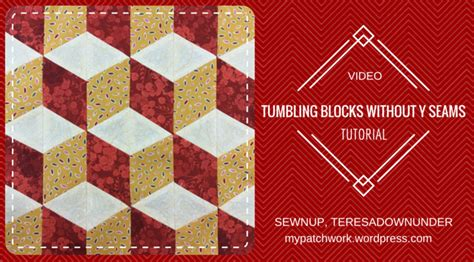 Tumbling Block Quilt Pattern Template by Video Tutorial Tumbling Blocks With No Y Seams Sewn Up
