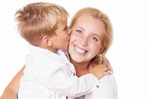 Happy Mother And Son Kissing Stock Images - Image: 33514384