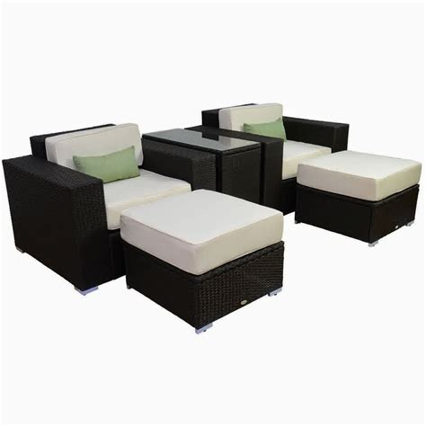 Outsunny Patio Furniture by Discount Until 60 Outsunny 5pc Outdoor Pe Rattan Wicker