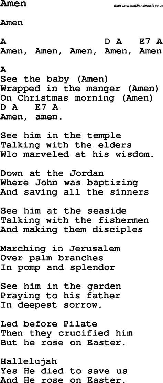 Summer Camp Song, Amen, With Lyrics And Chords For Ukulele, Guitar, Banjo Etc