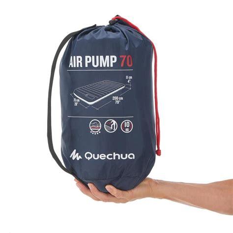 Luchtbed Quechua by Quechua Luchtbed Air Pump 70 1 Persoon Blauw Decathlon Nl