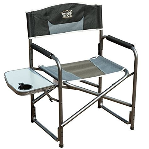 timber ridge aluminum portable director s folding chair with side table supports