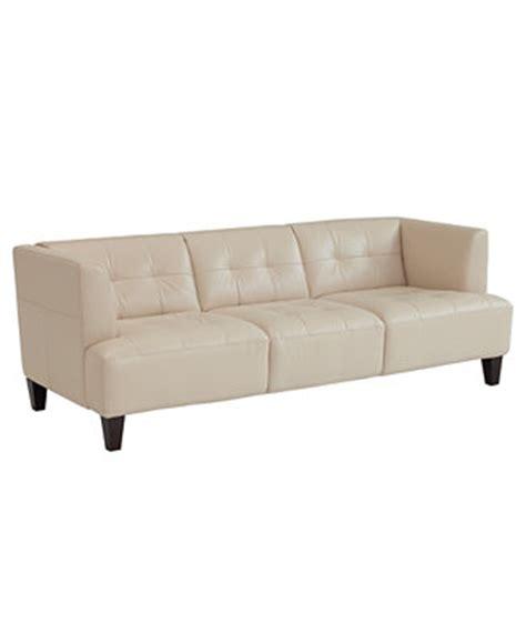alessia leather sofa furniture macy s