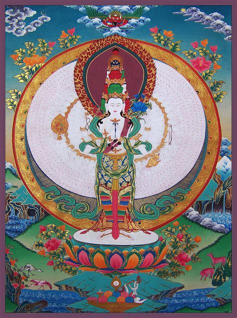 thousand armed avalokitesvara thangka painting