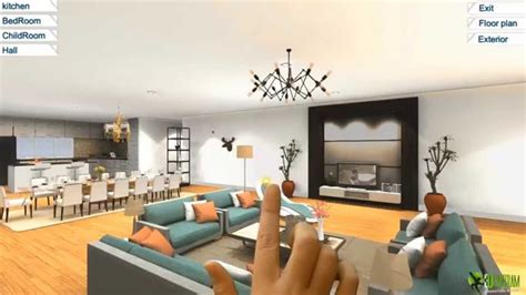 360 Virtual Reality Interior Application Experience For