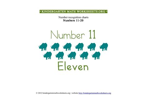 Kindergarten Math Numbers 1120  Kindergarten Math Worksheets Org