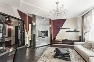 Wohnzimmer Farbe Gestaltung : 30 wohnzimmerw nde ideen streichen und modern gestalten ~ Markanthonyermac.com Haus und Dekorationen