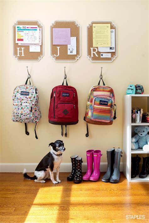 backpack hooks for home best 25 backpack organization ideas on