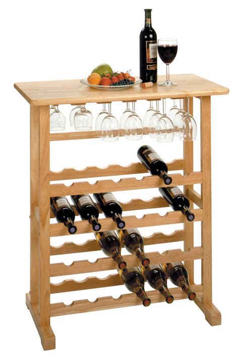 Winsome 24bottle Wine Rack With Glass Rack By Oj Commerce