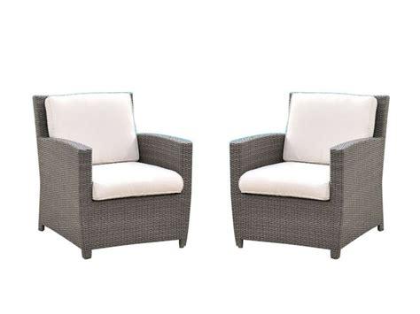lot de 2 fauteuils de jardin en r 233 sine tress 233 e palmira
