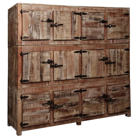 Large Rustic Reclaimed Wood 12 Storage Box Wall Unit