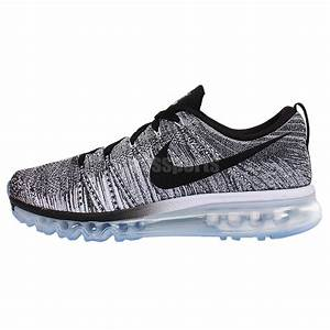 Nike Flyknit Max Oreo Black White Grey Mens Running Shoes ...