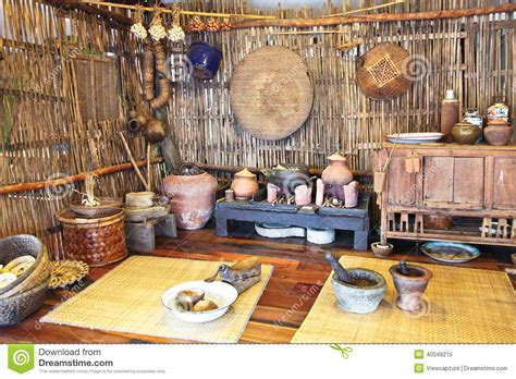 A Mockup Of Traditional Thai Kitchen Stock Image  Image