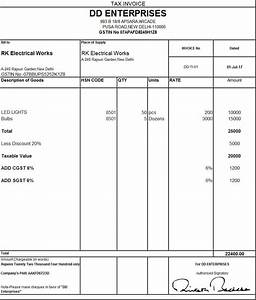 Download Excel Format of Tax Invoice in GST - GST Invoice ...
