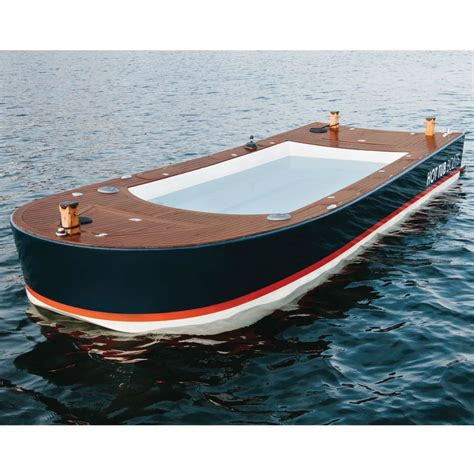 Hot Tub Boat by The Hot Tub Boat Hammacher Schlemmer