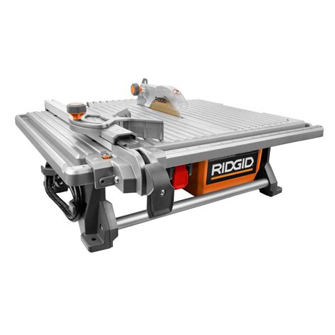 ridgid 120 volt 7 in table top tile saw r4021 the home depot