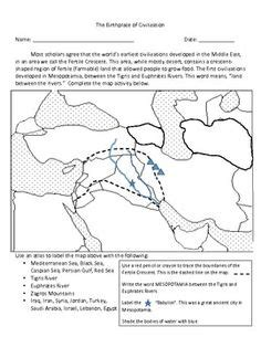 Geography Of Mesopotamia Worksheet Free Worksheets Library
