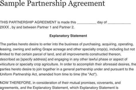 3+ Sample Partnership Agreement Free Download