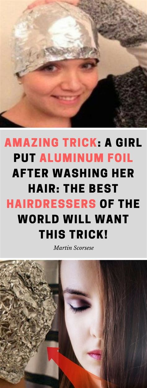 Amazing Trick A Girl Put Aluminum Foil After Washing Her