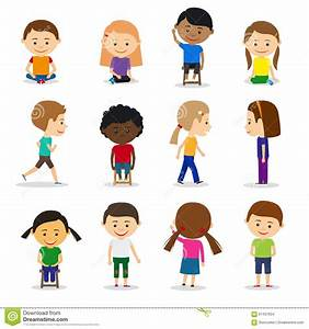 Cute Kids Characters Stock Vector - Image: 61437834