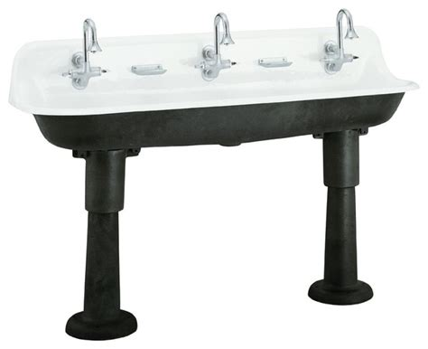 kohler brockway wash sink eclectic kitchen sinks by