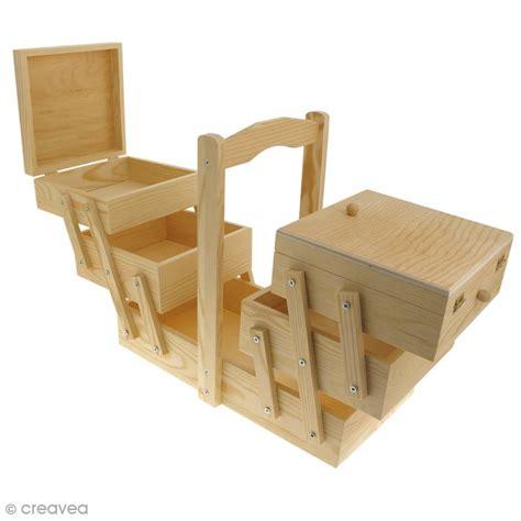 boite 224 couture 224 d 233 corer en bois 32 x 16 x 29 cm boite rangement couture creavea
