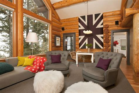 Home Interior Furniture : Interesting Log Cabin Decoration Ideas