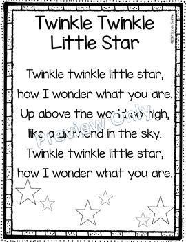 Row Row Row Your Boat Lyrics Polar Bear by Twinkle Twinkle Little Star Printable Nursery Rhyme Poem