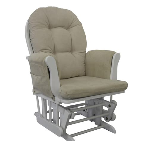 white glider rocking chair nursing maternity chair free matching stool