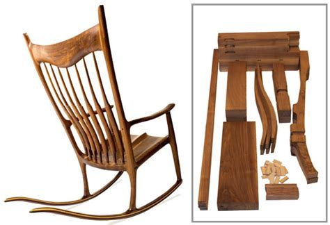 charles brock maloof inspired rocker walnut parts kit with plan bundle