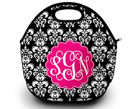 Lunch Tote, Personalized Monogrammed Lunch Box · Sassy Ideas For On Top Of Kitchen Cabinets Ikea Cabinet Colors Paint Oak New Orleans Design With White Garbage Can Pictures Glazed Www