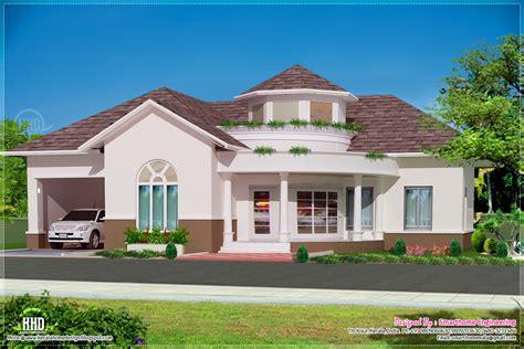 3 Floor Home Design : Beautiful Single Floor 3 Bed Room Villa