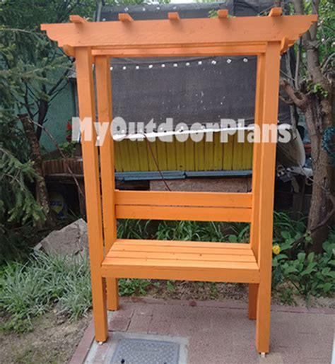 Diy Arbor Bench  Myoutdoorplans  Free Woodworking Plans